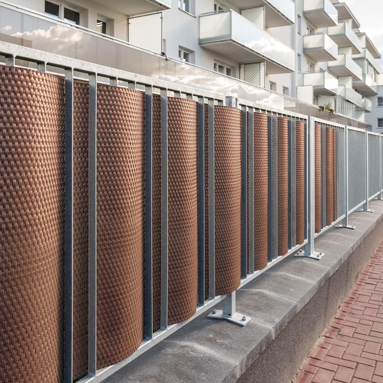 Osłona balkonowa Tress 0,9 x 3 m brązowa PATIO
