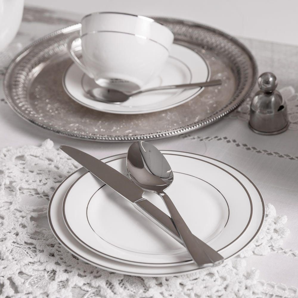 Espressotasse Aura Silver 90 ml AMBITION