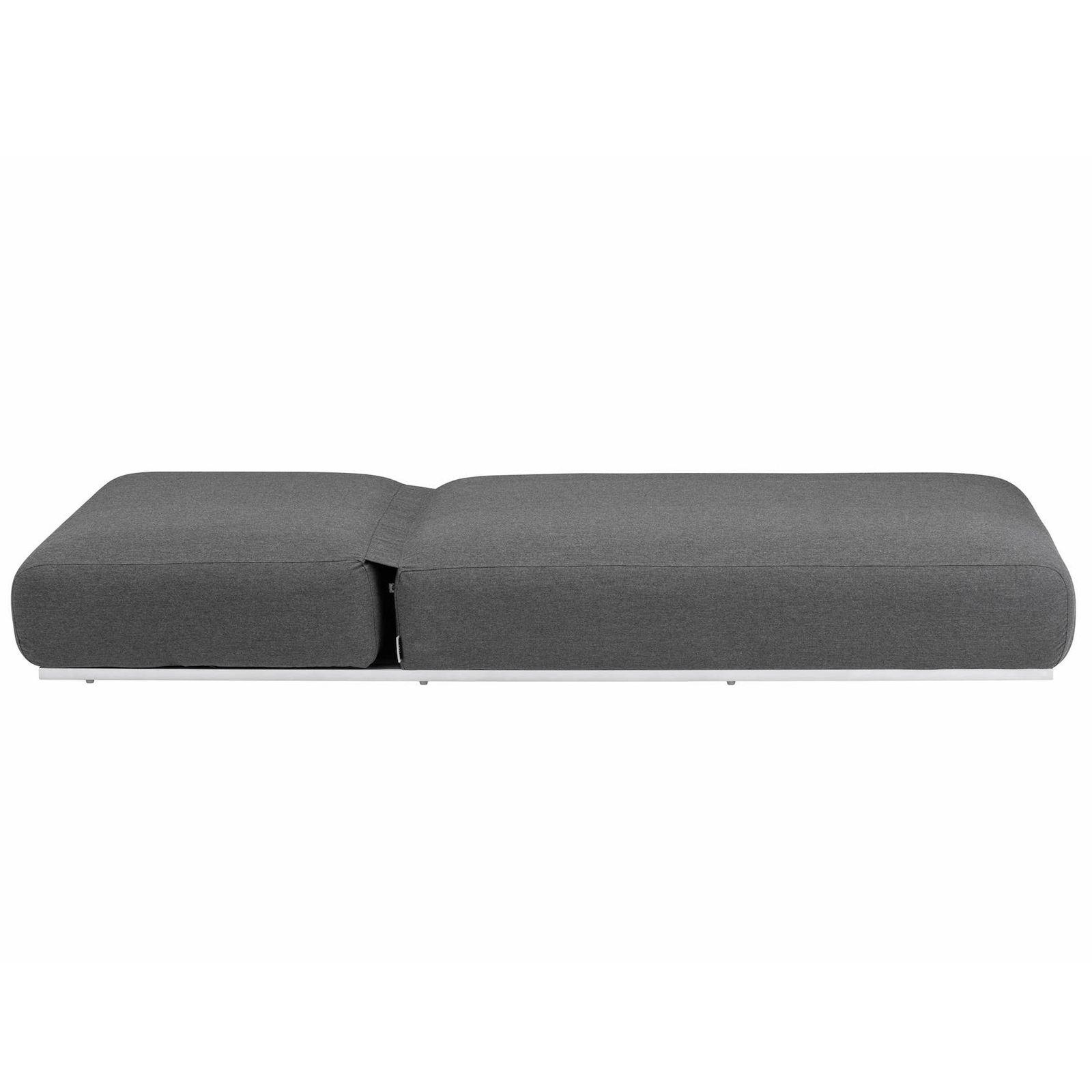 Leżak Ego 213 x 90 x 33 cm srebrno-antracytowy KETTLER