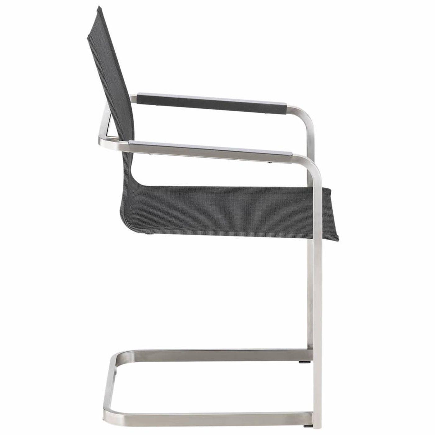 Krzesło Feel Spring antracytowy / stal KETTLER