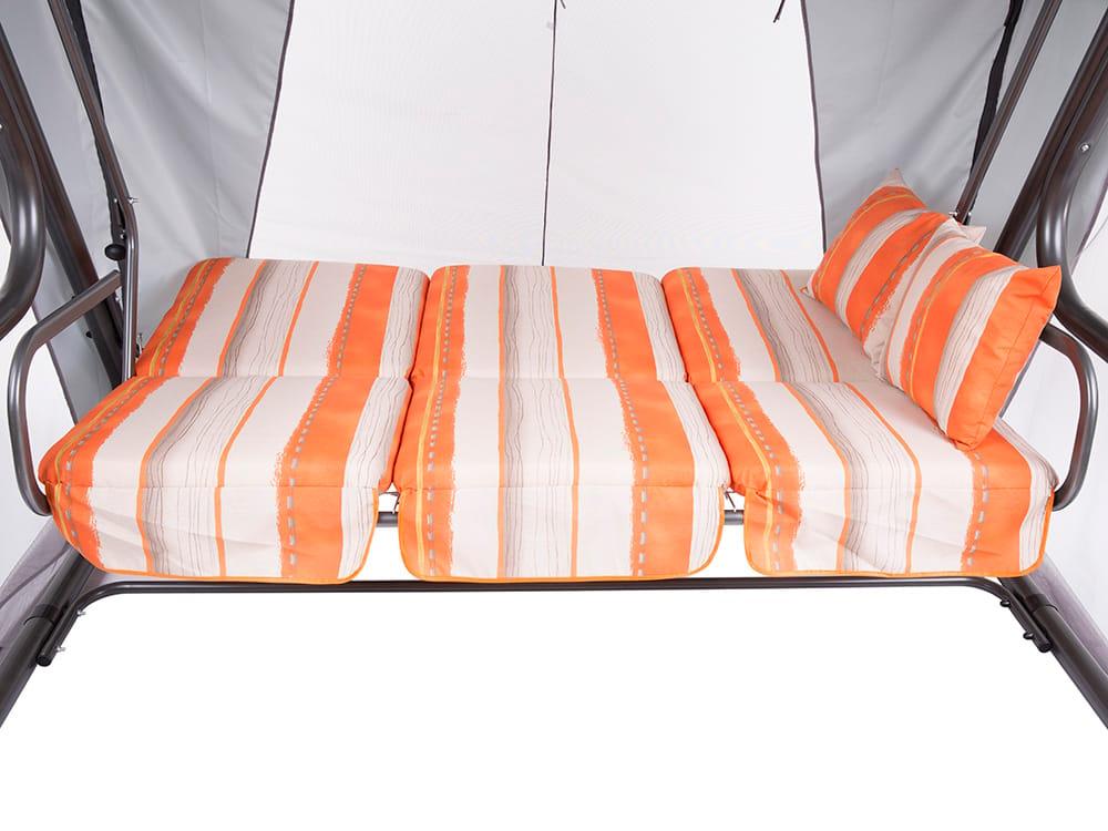3-Sitzer Hollywoodschaukel Venezia mit Sonnendach und Auflagen-Set HC019-13LB PATIO