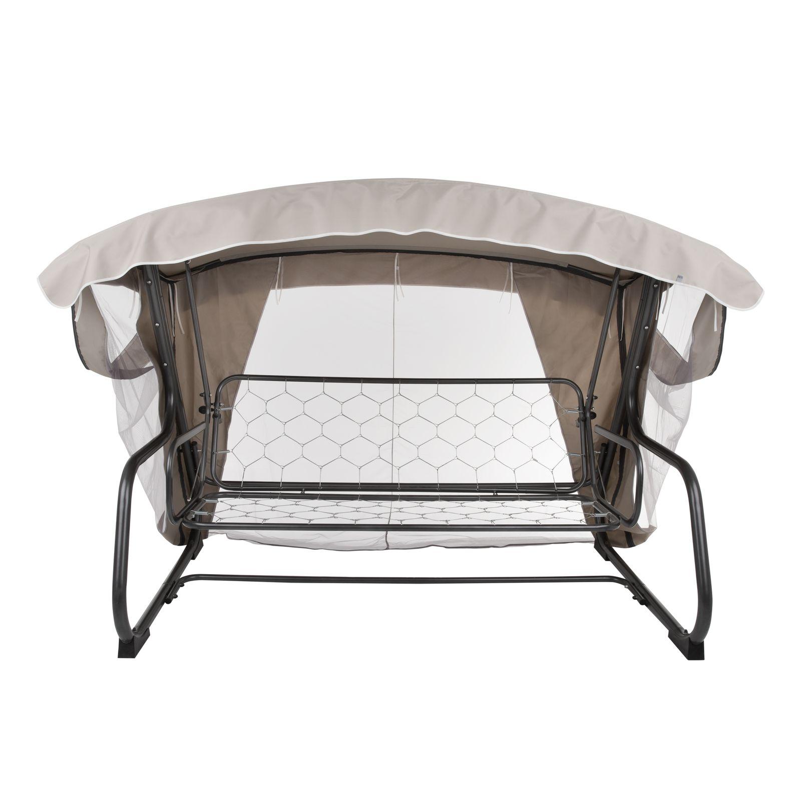 Dach z moskitierą do huśtawki ogrodowej 224 x 124 cm Ravenna D031-15CW PATIO