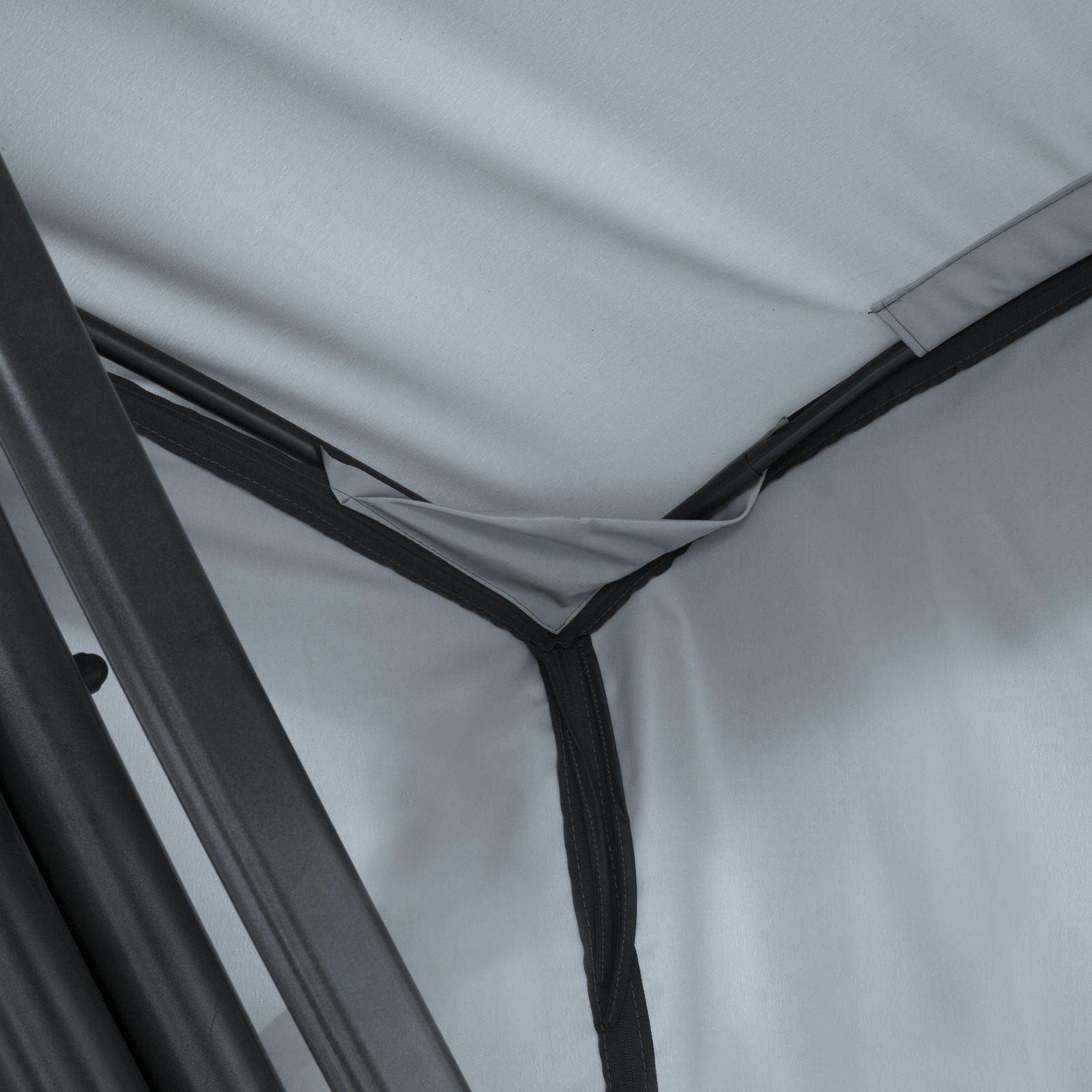 Dach z moskitierą do huśtawki ogrodowej 224 x 124 cm Ravenna D031-06CW PATIO