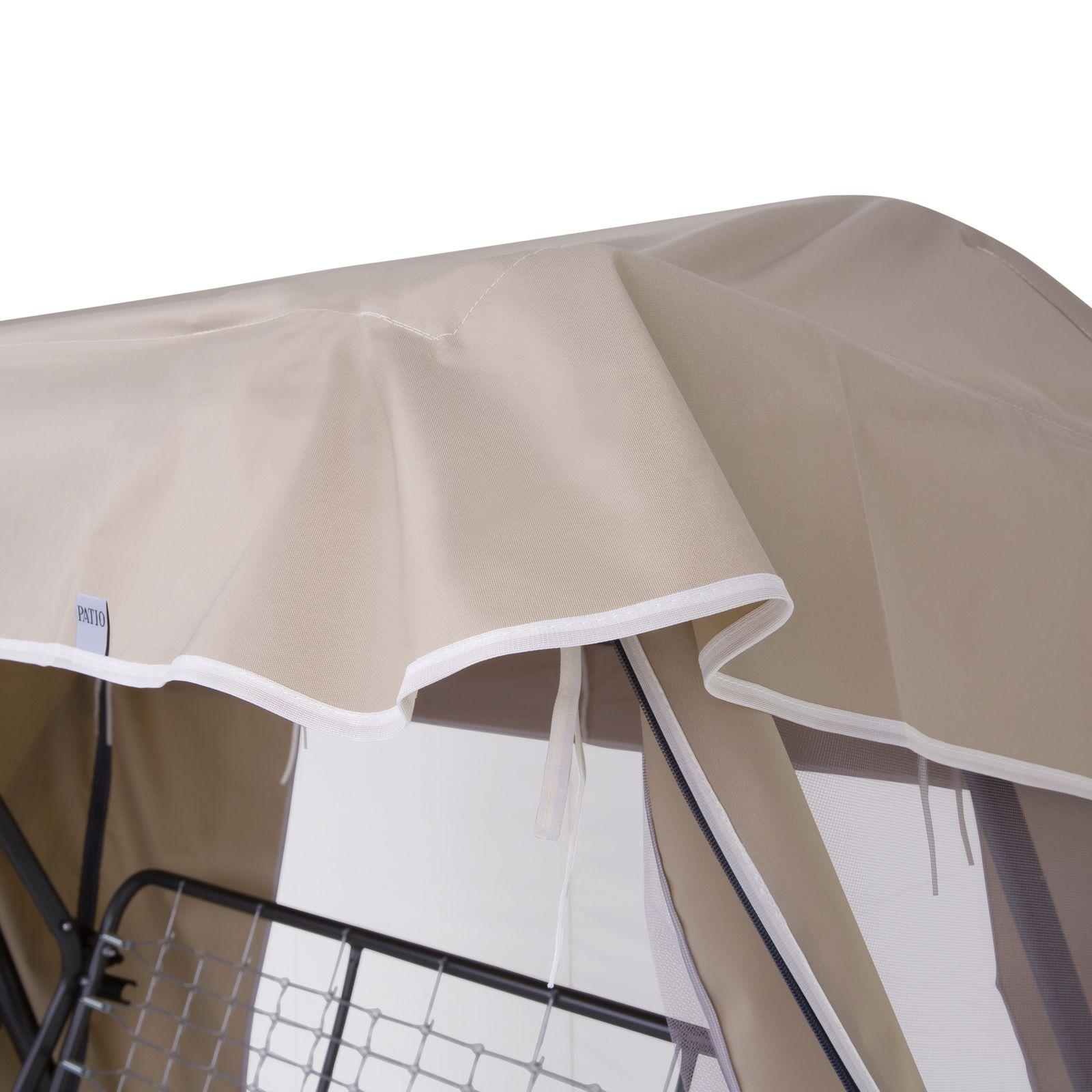 Dach z moskitierą do huśtawki ogrodowej 228 x 126 cm Rimini / Venezia cappucino D031-15CW PATIO