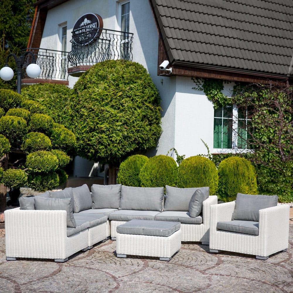 Komplet mebli ogrodowych Dorothee biały PATIO