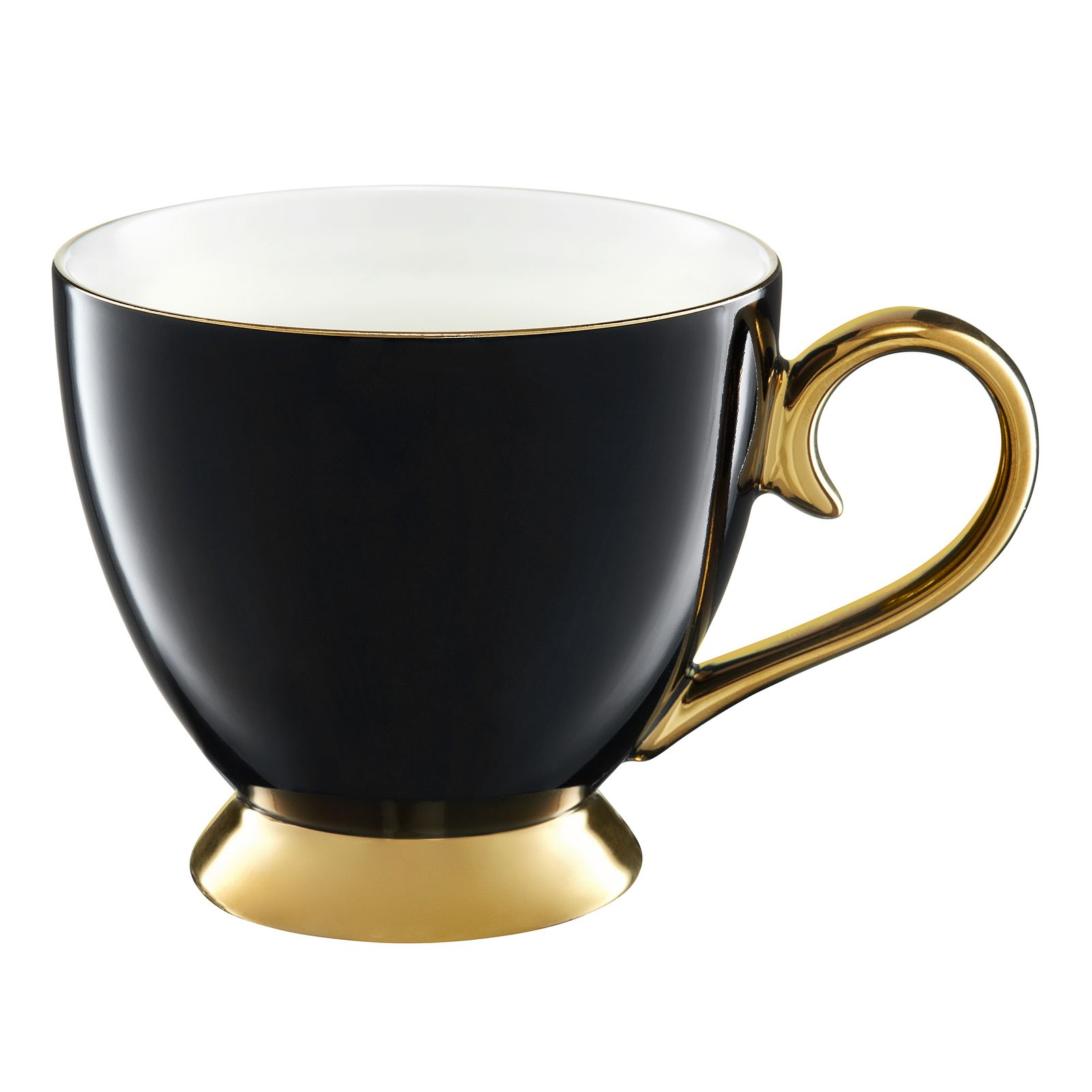 Becher Royal 400 ml schwarz-gold AMBITION