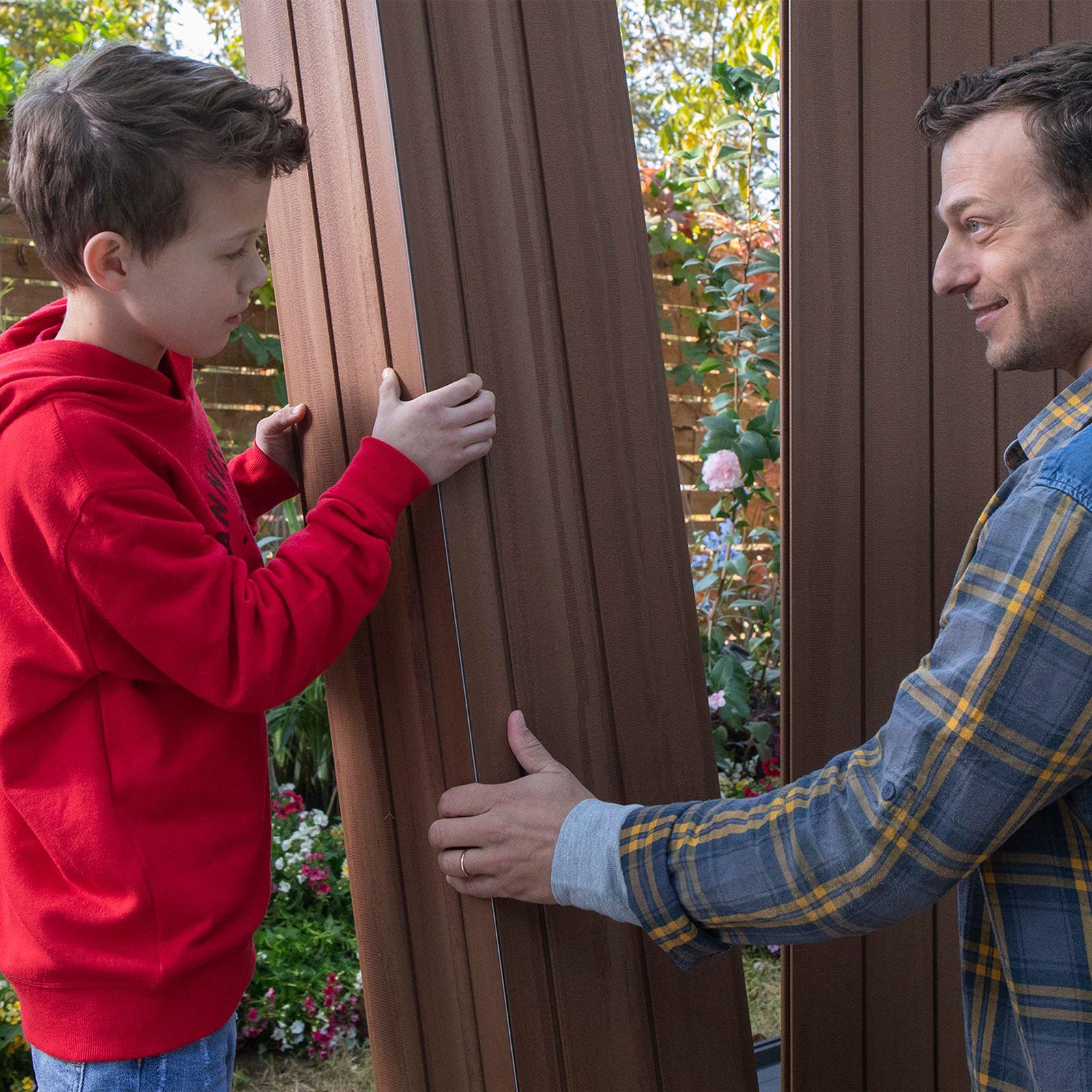 Capanno da giardino porta attrezzi Darwin marrone KETER