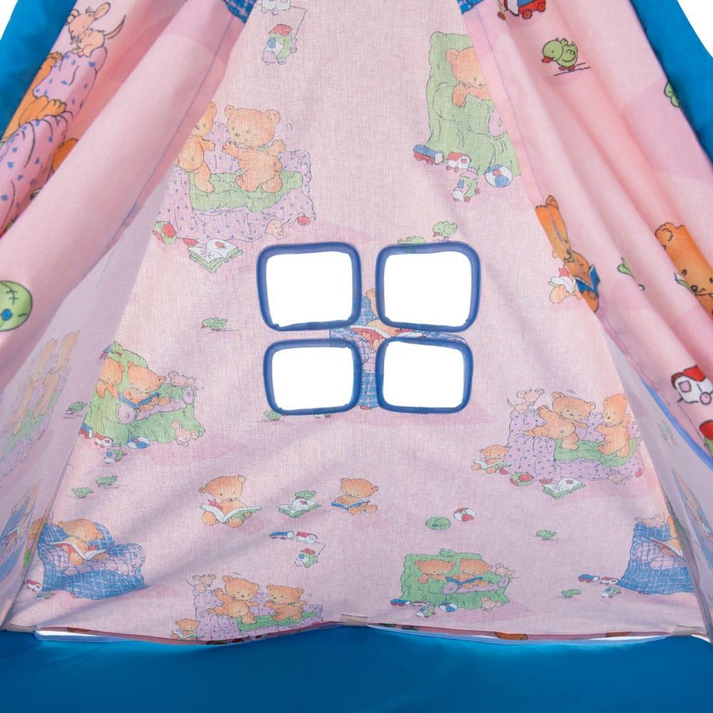 Tienda tipi para ninos Ositos L069-11BW 104 x 104 x 124 cm PATIO