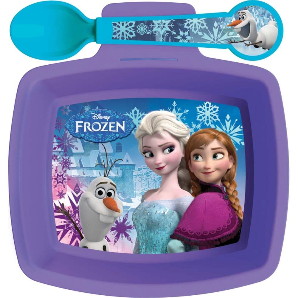 Miska se lžičkou Frozen Violet 390 ml DISNEY