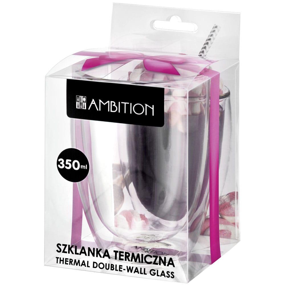 Szklanka termiczna w opakowaniu Mia 350 ml Gift Box AMBITION