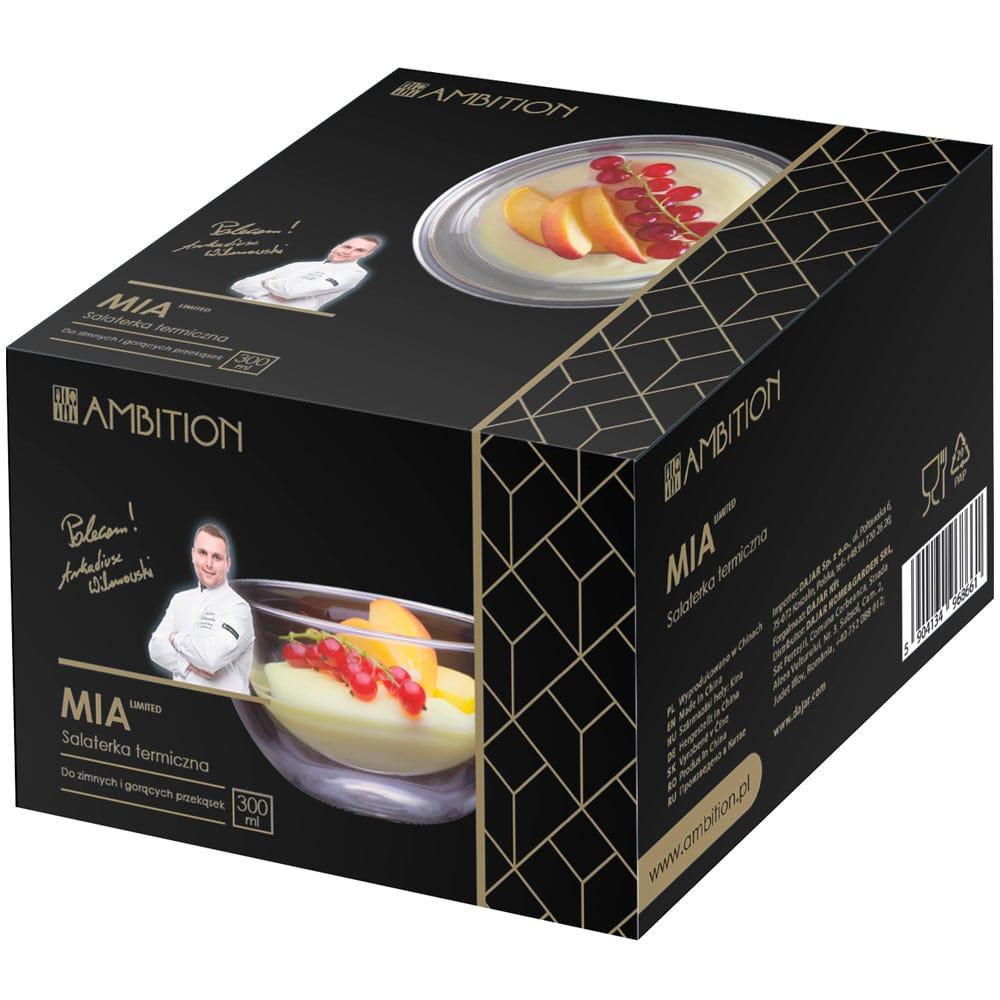 Salaterka termiczna z podwójną ścianką Mia 300 ml AMBITION