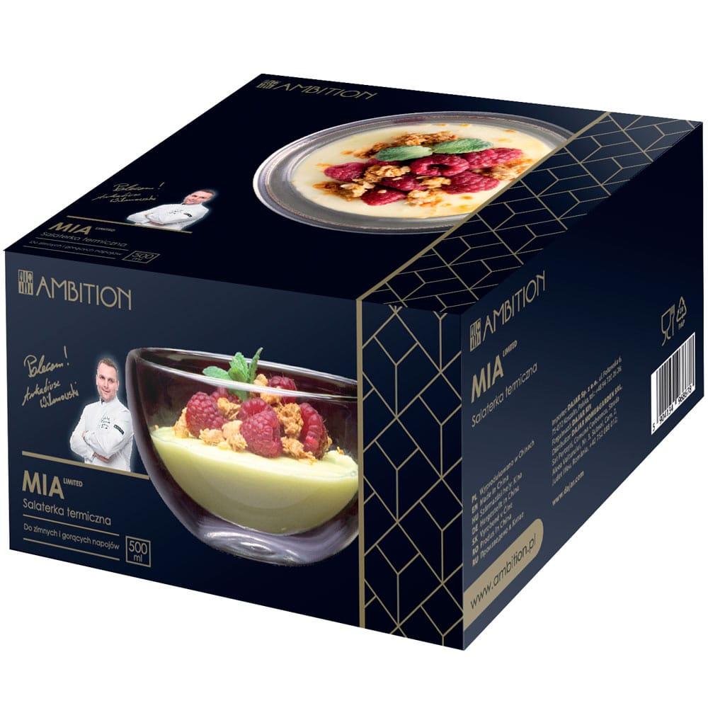 Salaterka termiczna z podwójną ścianką Mia 500 ml AMBITION