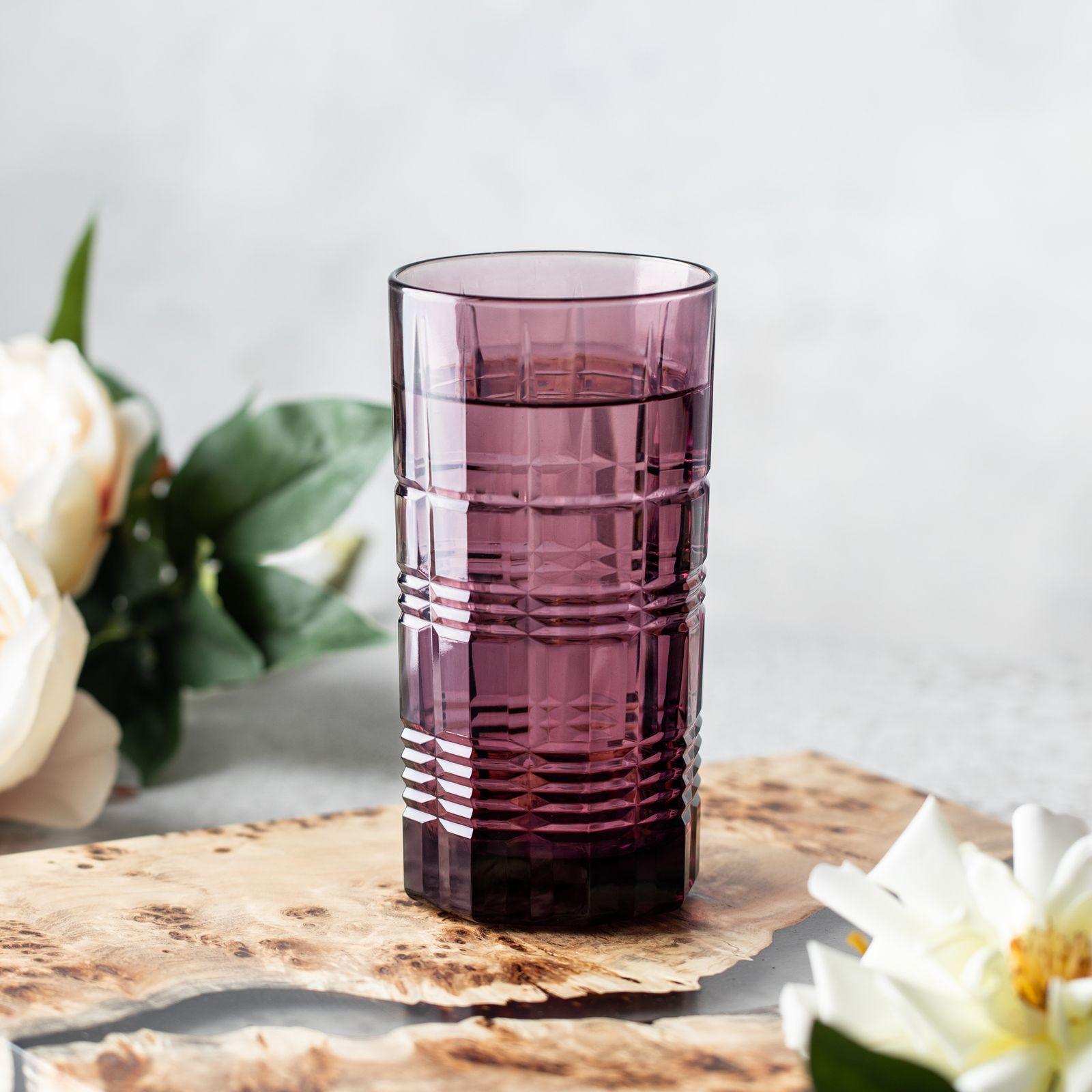 Szklanka wysoka Dallas Lilac 380 ml LUMINARC