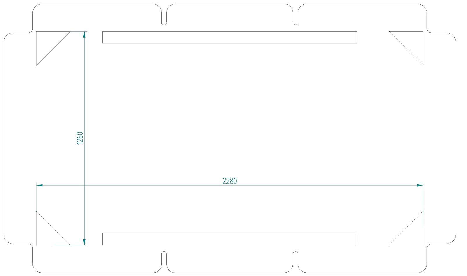 Daszek do huśtawki ogrodowej 228 x 126 cm Rimini / Venezia D031-16CW PATIO