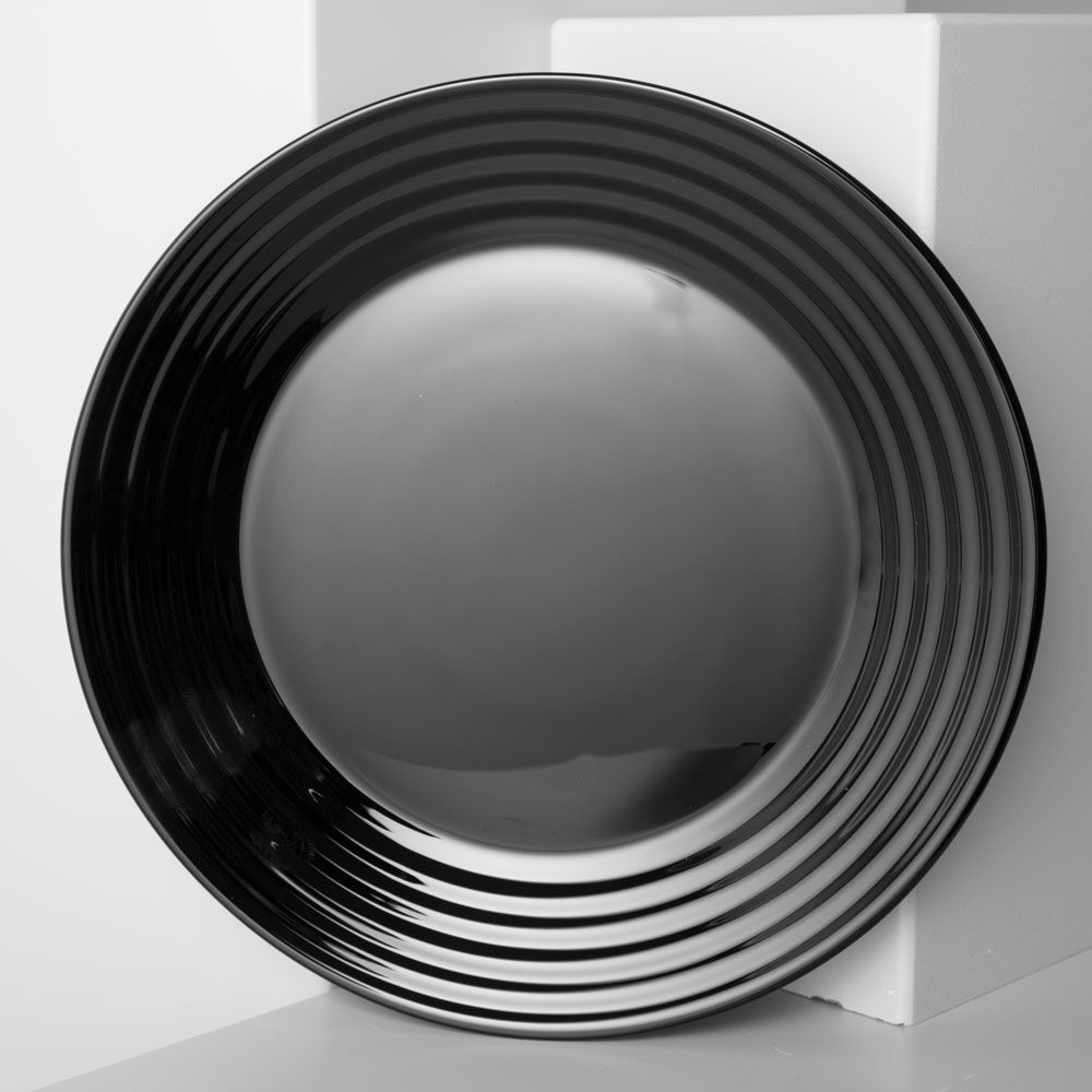Talerz obiadowy Harena 25 cm czarny LUMINARC