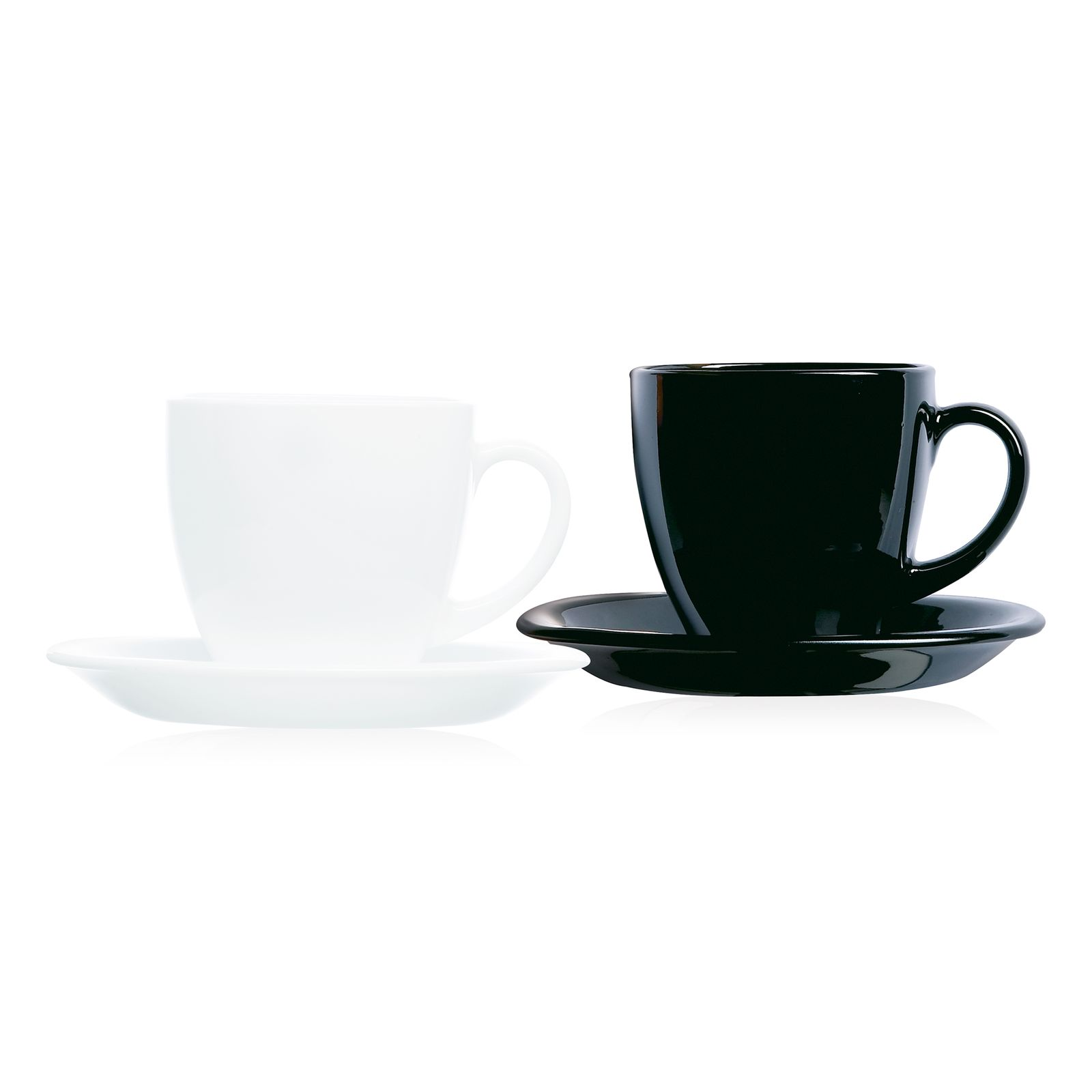 Service à café Carine White&Black 220 ml 12-pièces LUMINARC