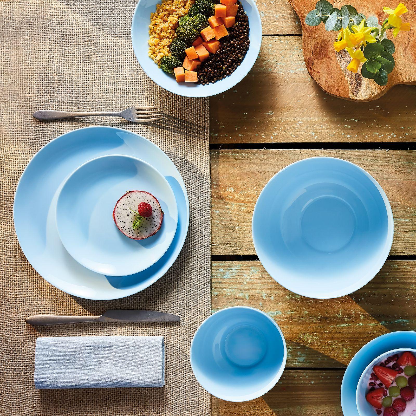 Komplet obiadowy Diwali Light Blue 19-elementowy LUMINARC