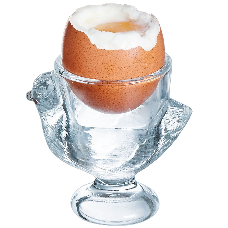 Komplet 3 kieliszków do jajek Kurka 7 cm LUMINARC