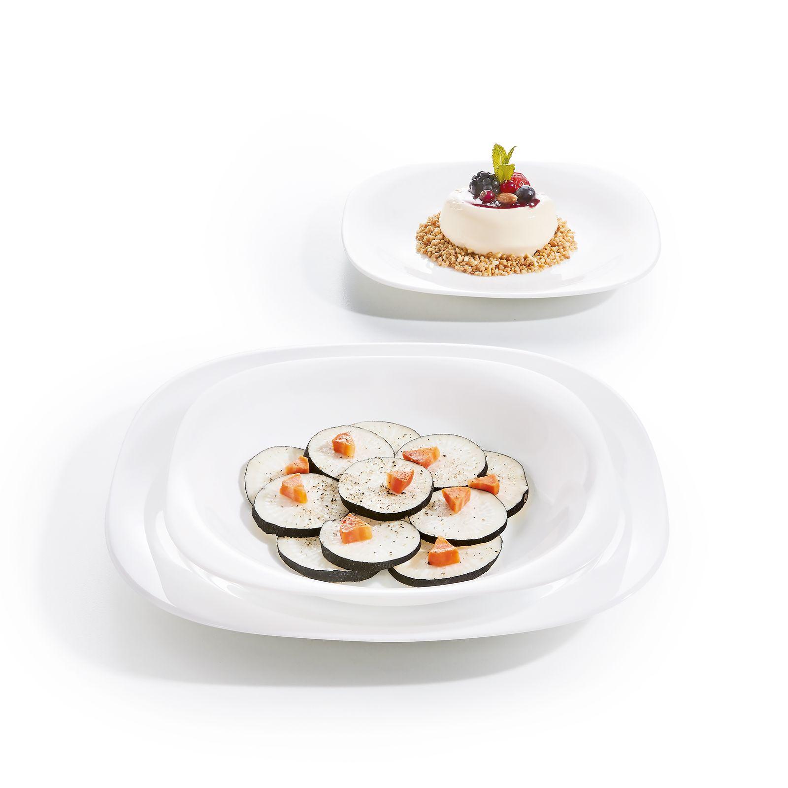 Komplet obiadowy Carine Neo White 19-elementowy LUMINARC (salaterka 27 cm)