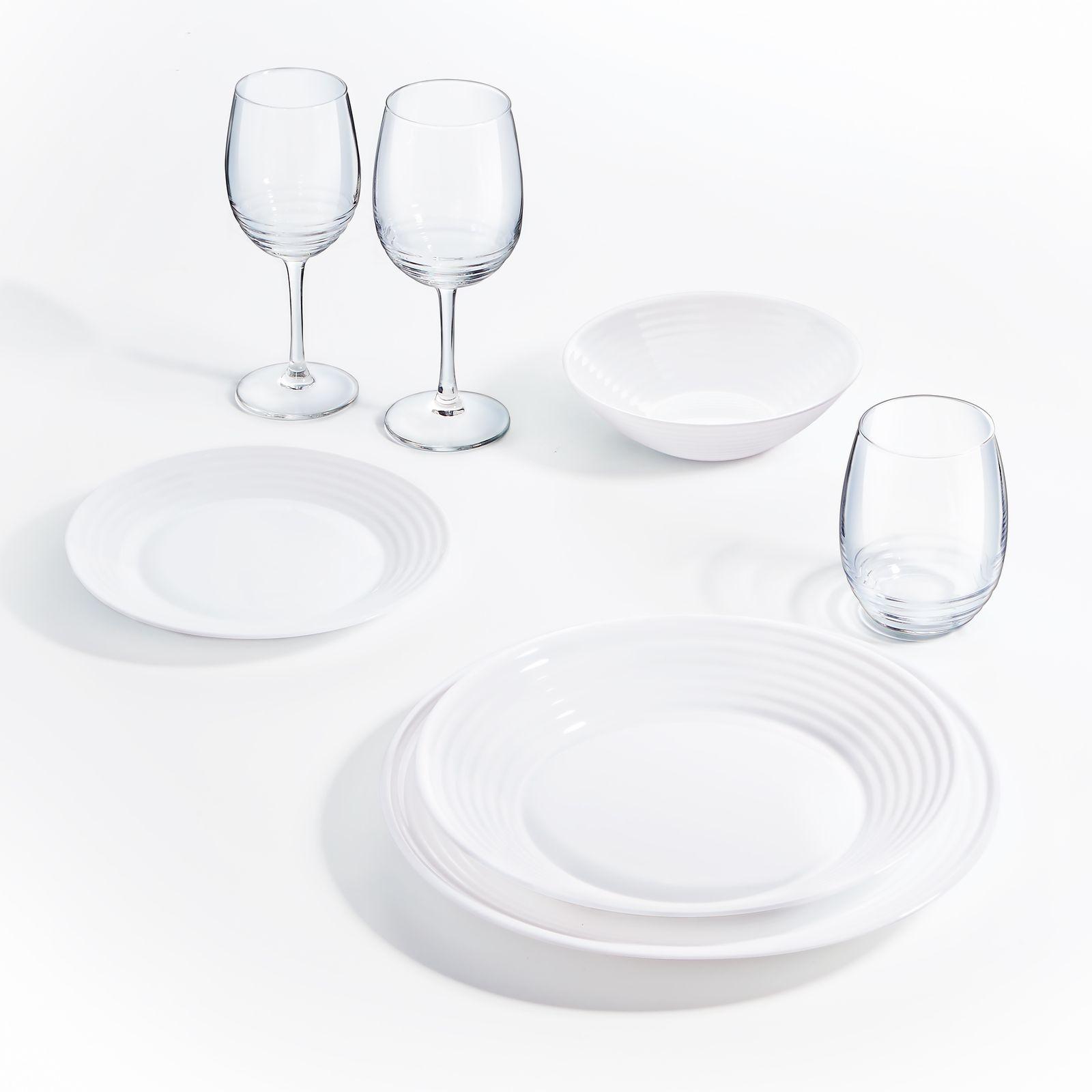 Komplet obiadowy Harena 19-elementowy LUMINARC (salaterka 27 cm)