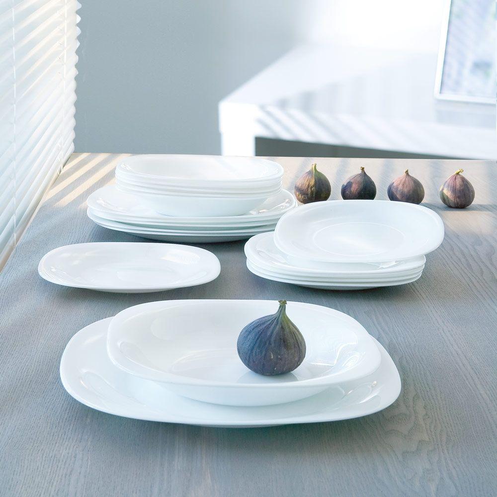 Service de table Carine Blanc 100-pièces LUMINARC