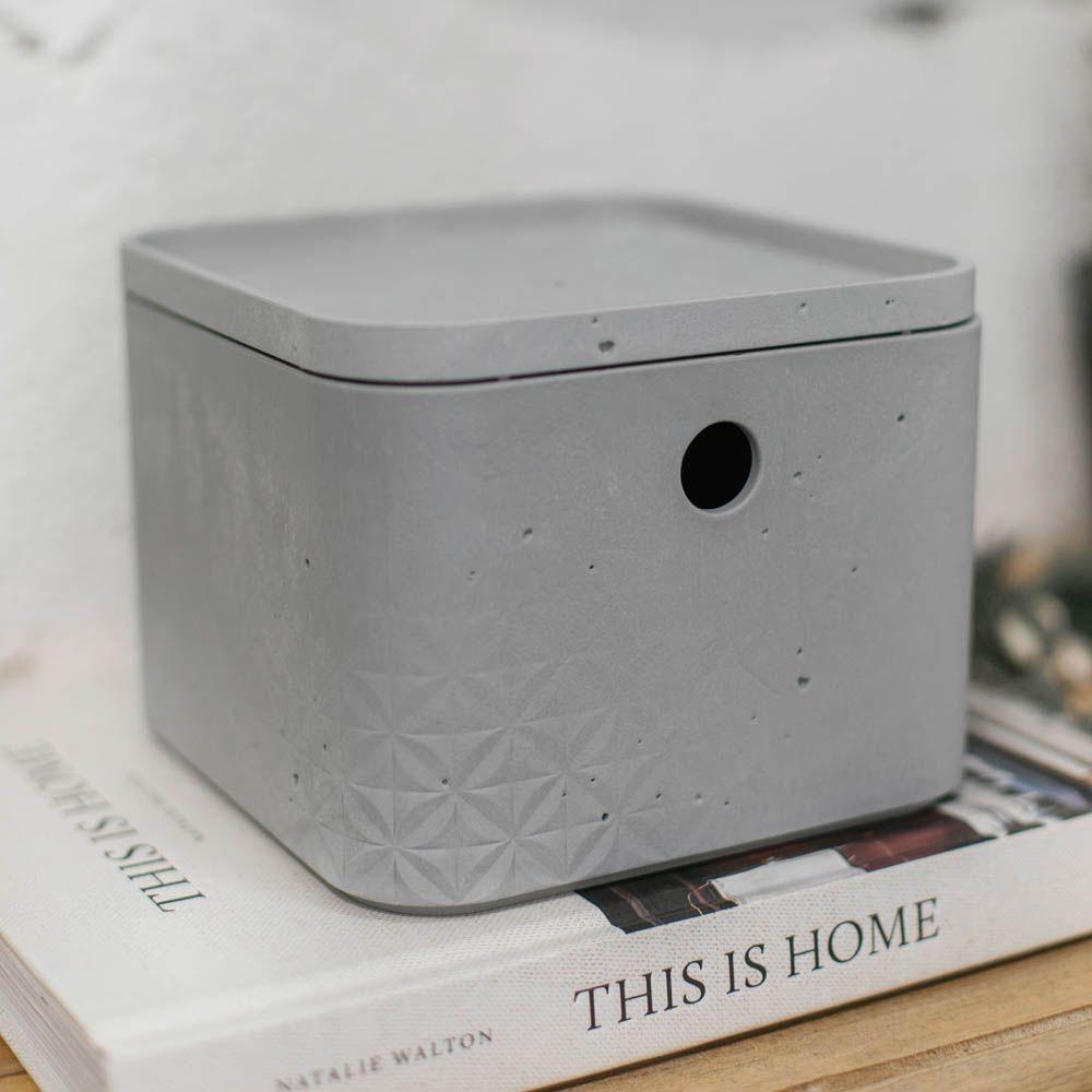 Caja cuadrada con tapa 3 l Beton gris claro CURVER