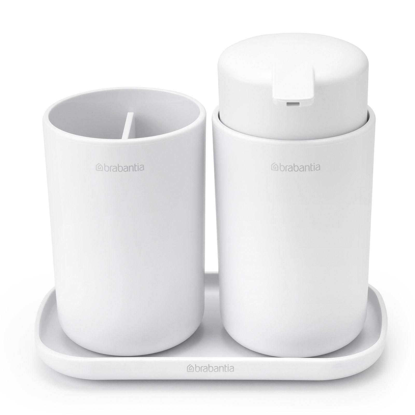 Komplet łazienkowy 3-elementowy biały BRABANTIA