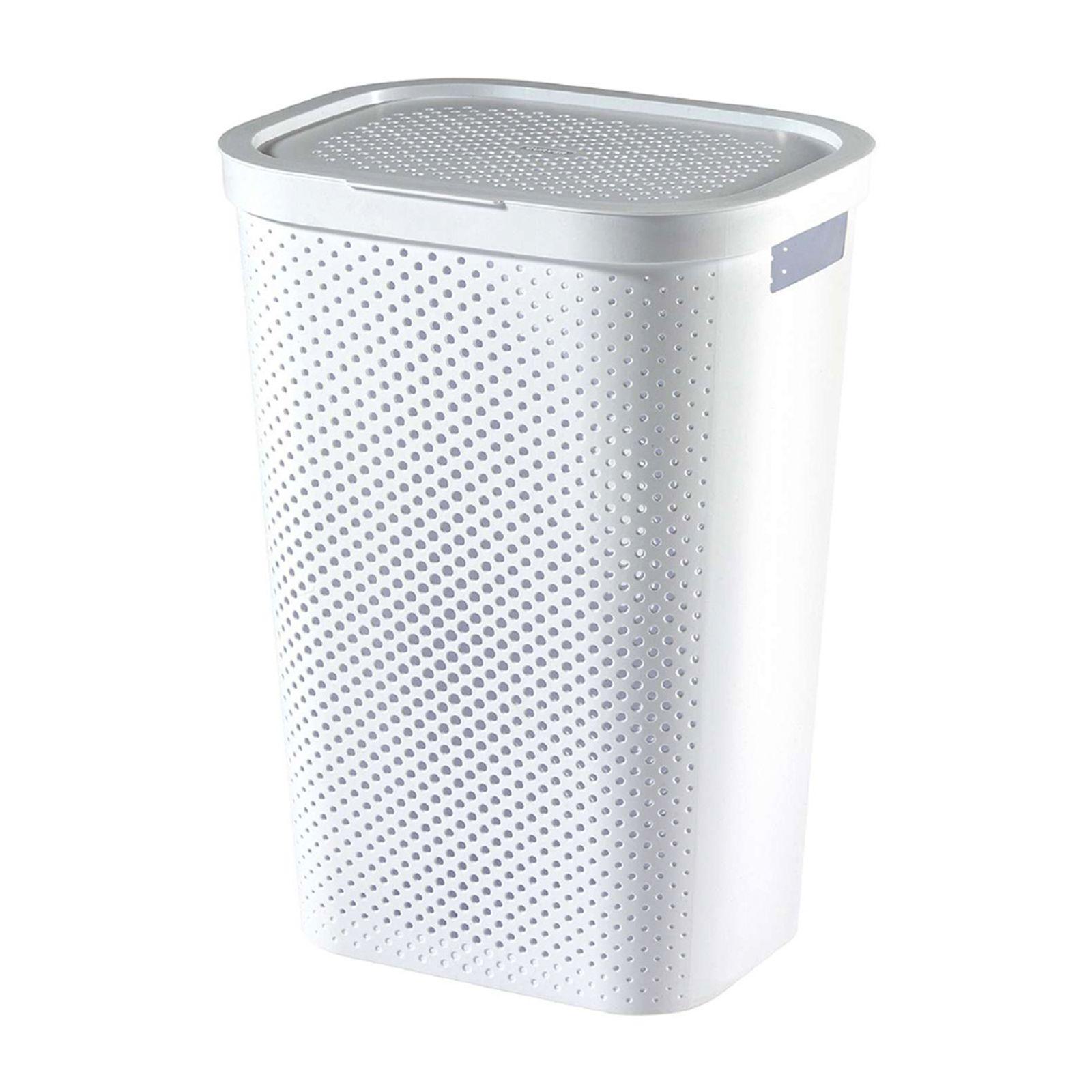 Kosz na bieliznę Infinity 100% Recykling Eko 60 L biały CURVER