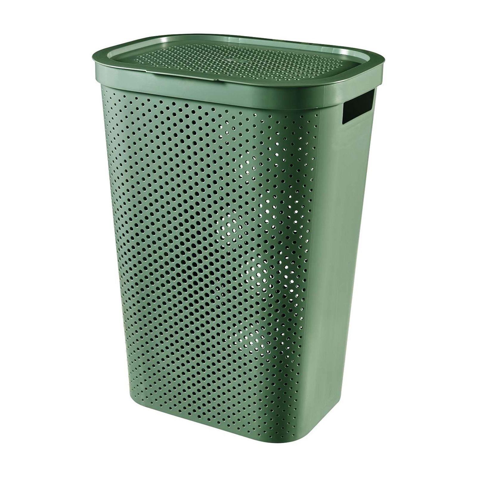 Kosz na bieliznę Infinity 100% Recykling Eko 60 L zielony CURVER