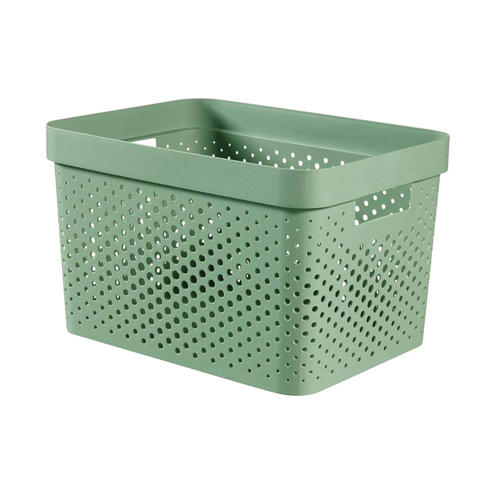 Pojemnik ażurowy 17 L Infinity 100% Recykling Eko zielony CURVER