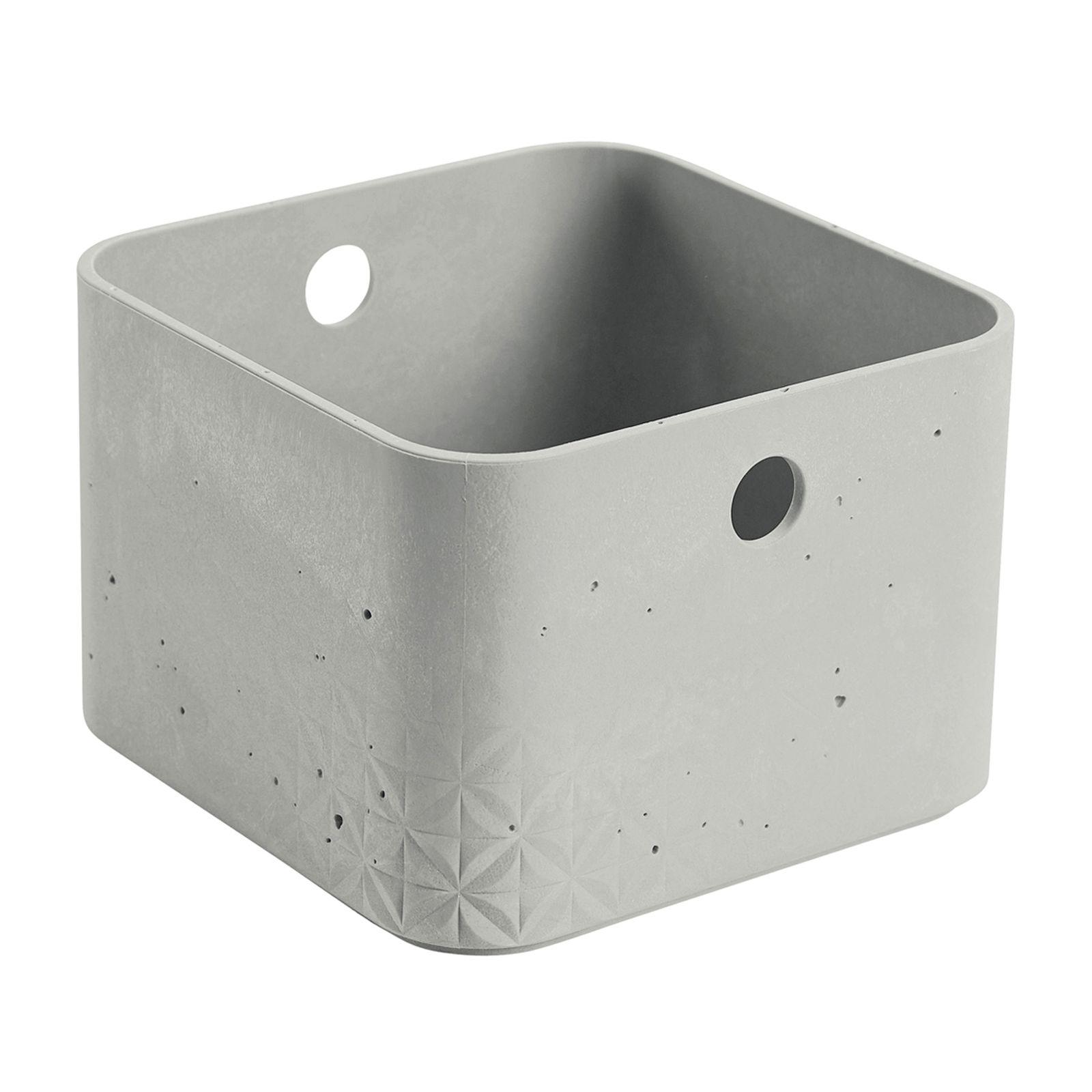 Caja cuadrada 3 l Beton gris claro CURVER