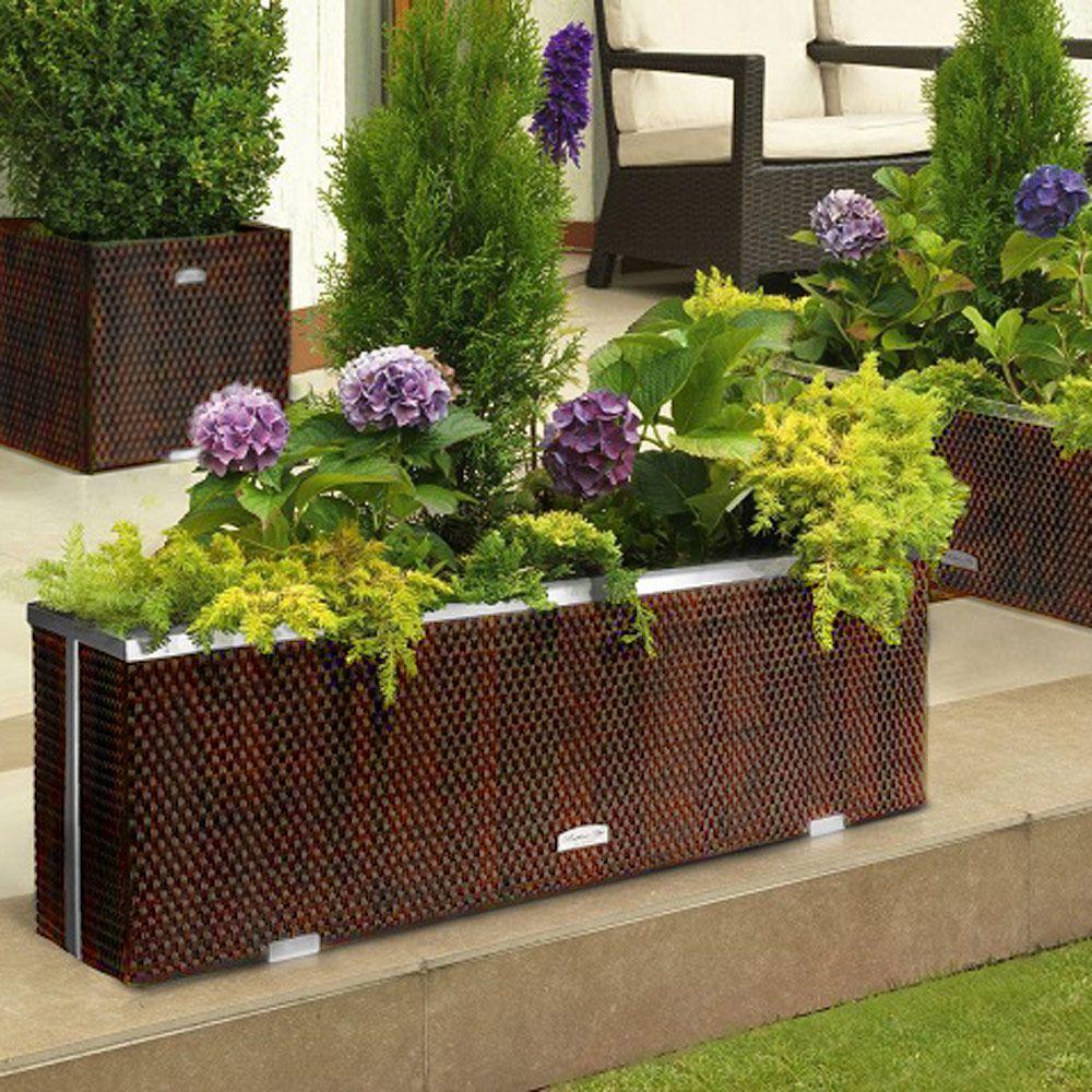 Donica Tress 150 x 39 x 50 cm brązowa PATIO
