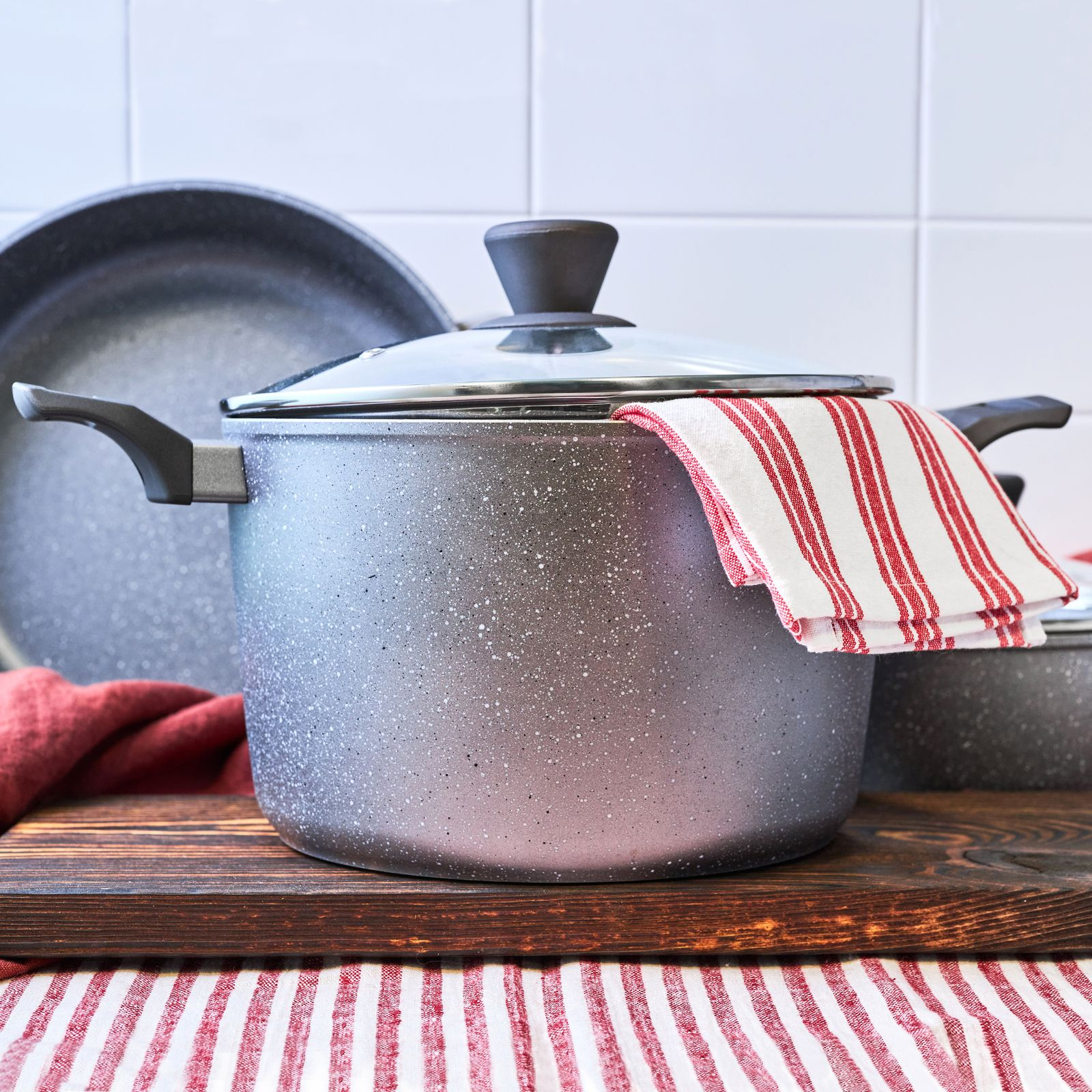 High cooking pot with lid Silverstone 20 cm Induction AMBITION