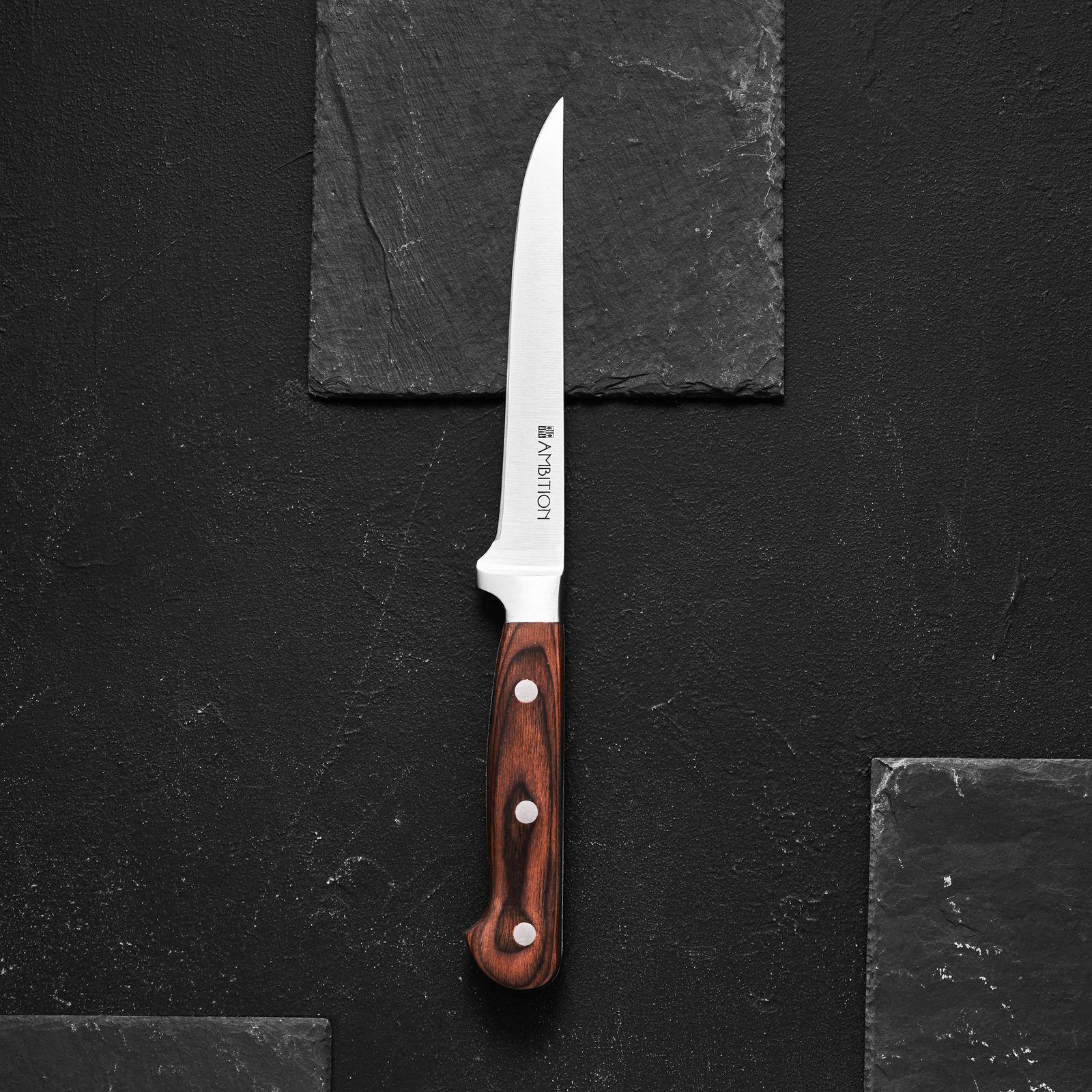 Nóż kuchenny masarski Titanium 15 cm AMBITION