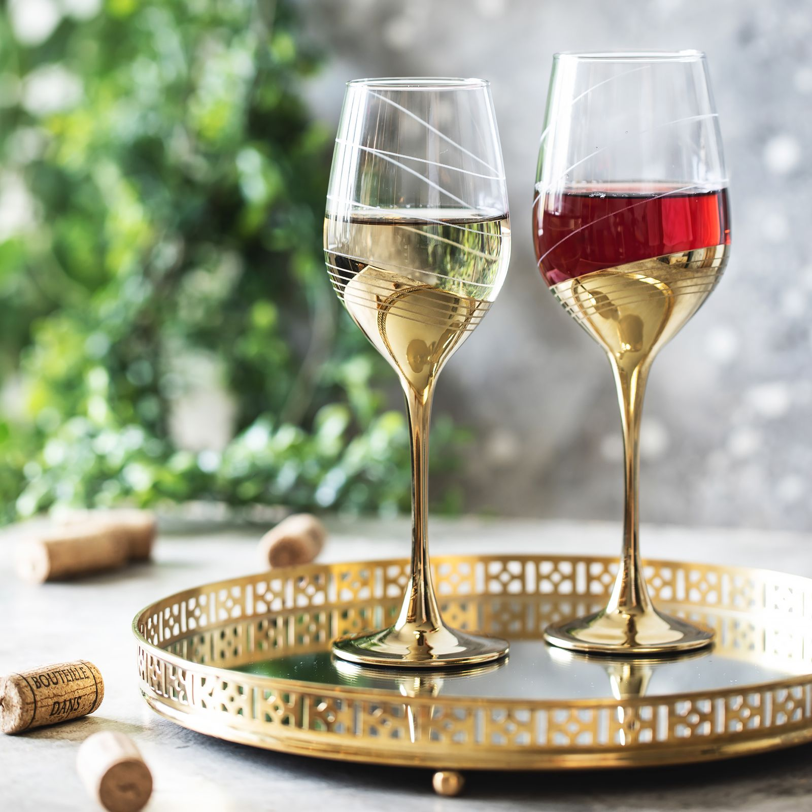 Set de 6 copas de vino Celeste Golden Ring 35 cl LUMINARC