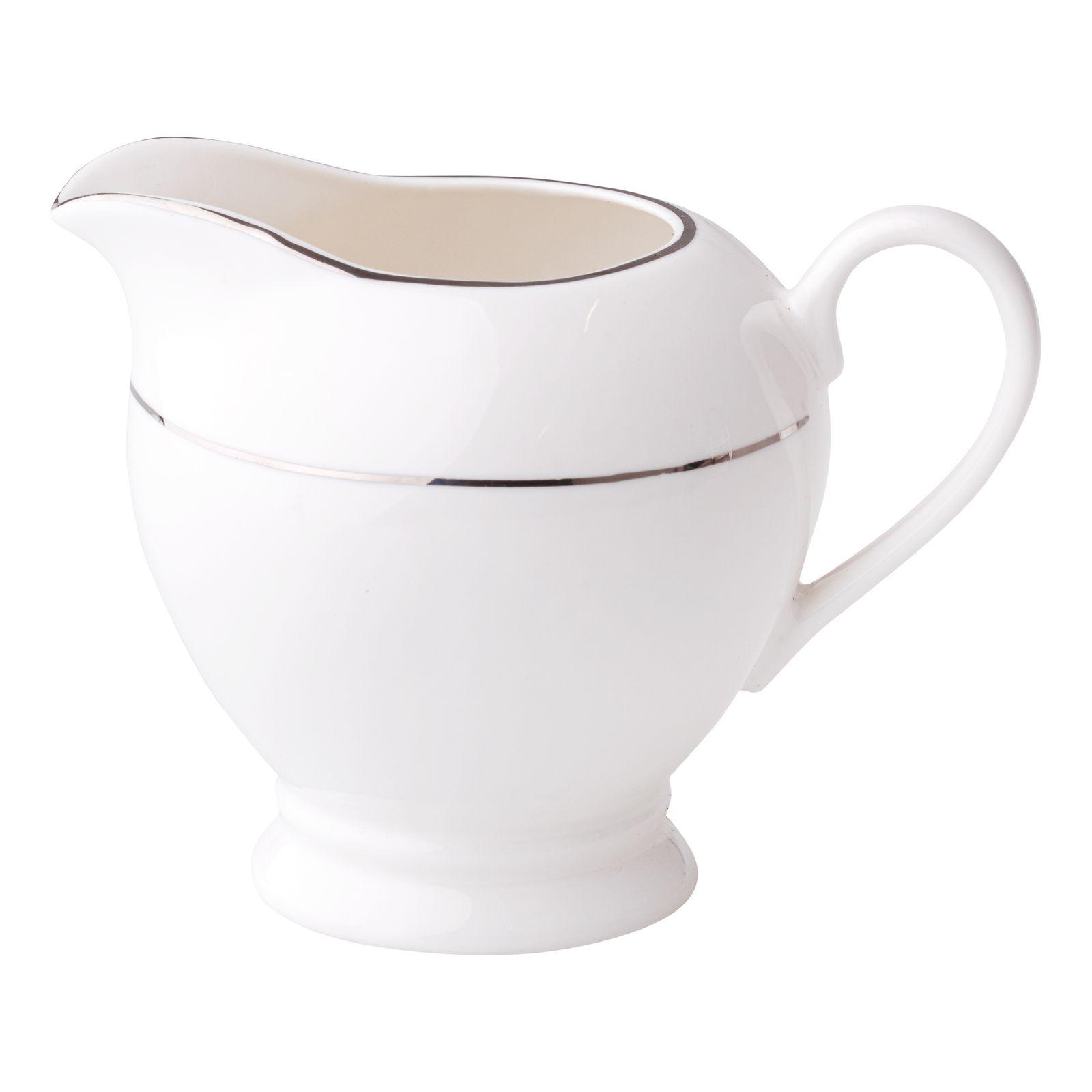 Porcelánová kanvička na mlieko Aura Silver 300 ml AMBITION