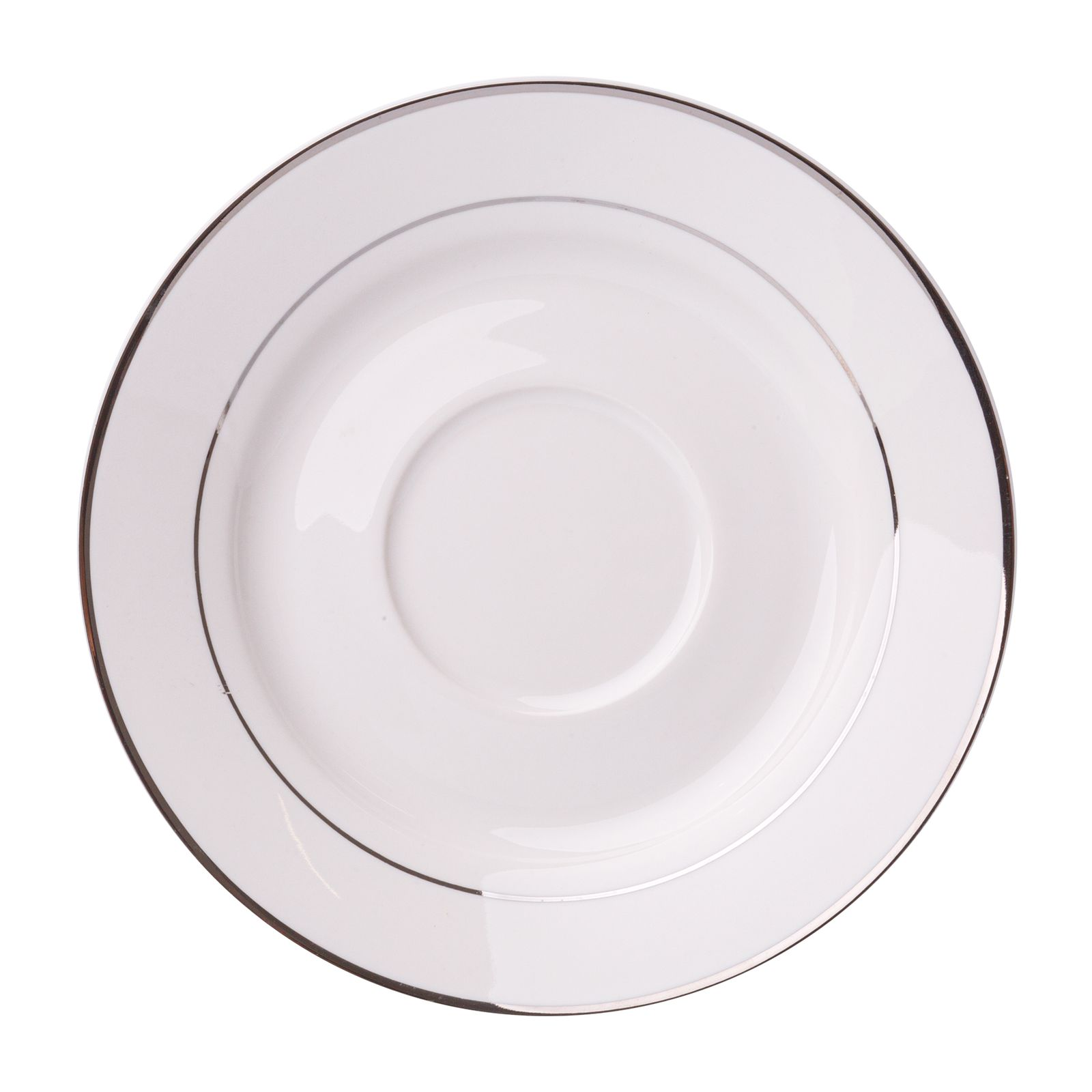 Porcelánová podšálka Aura Silver 15,5 cm AMBITION
