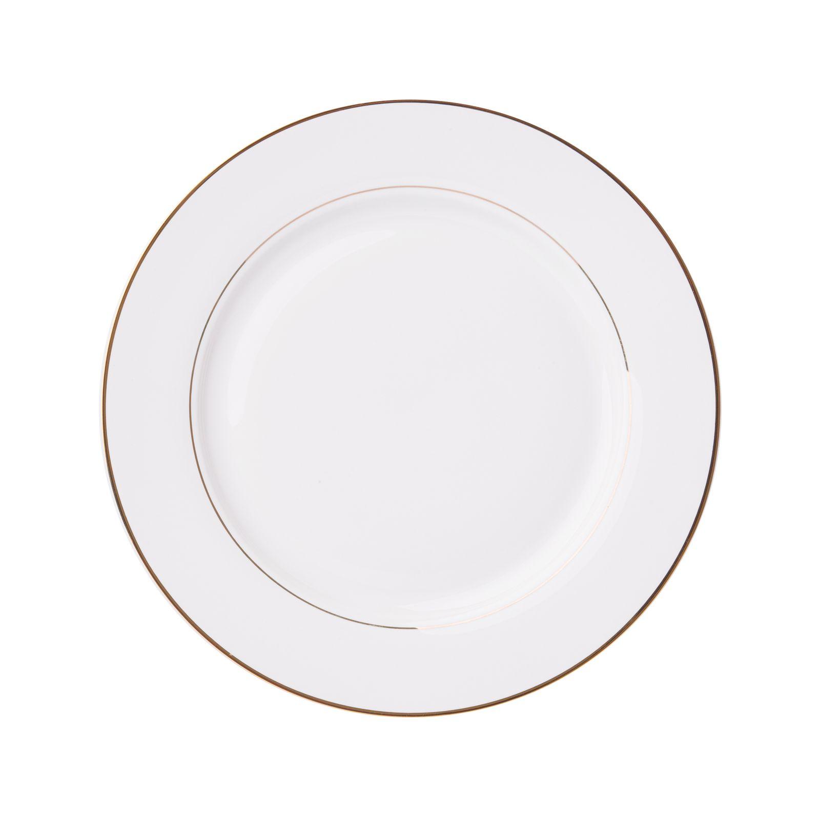 Porcelánový plytký tanier Aura Gold 27 cm AMBITION