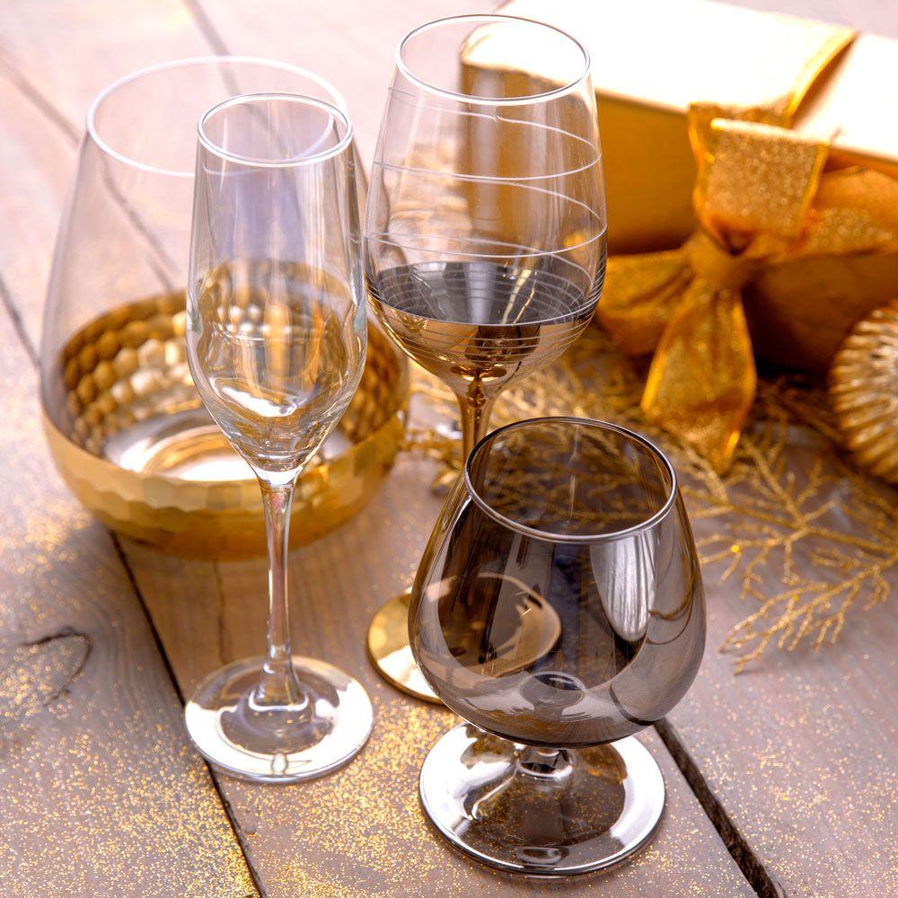 Set of 2 cognac glasses Celeste Shiny Graphite 410 ml LUMINARC