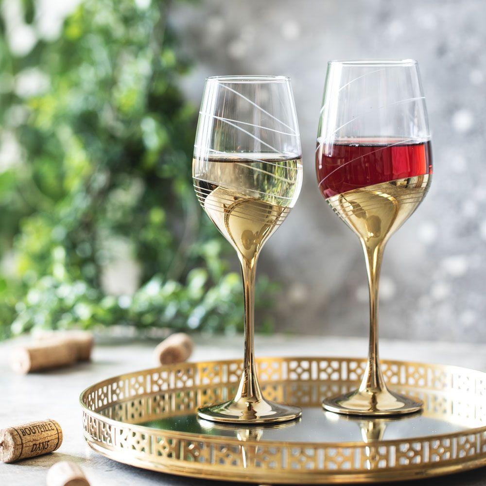 Set de 6 copas de vino Celeste Golden Ring 27 cl LUMINARC