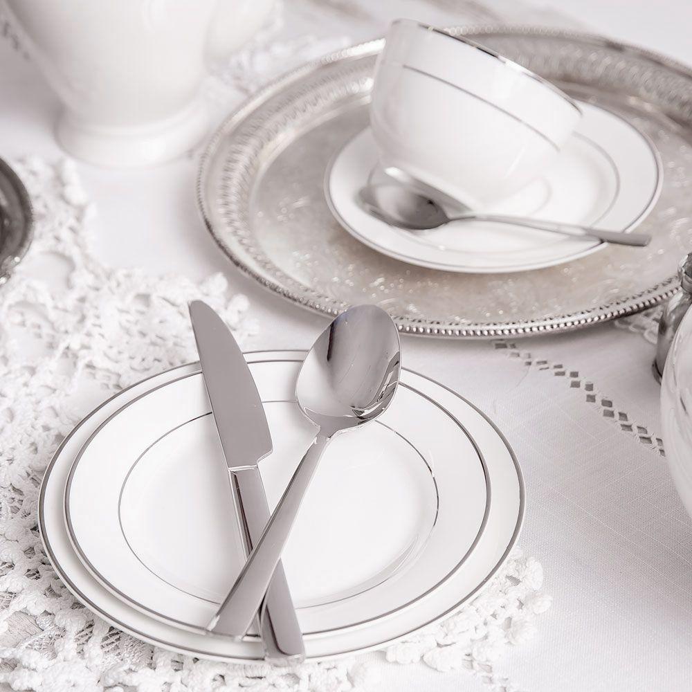 Talerz obiadowy Aura Silver 27 cm AMBITION