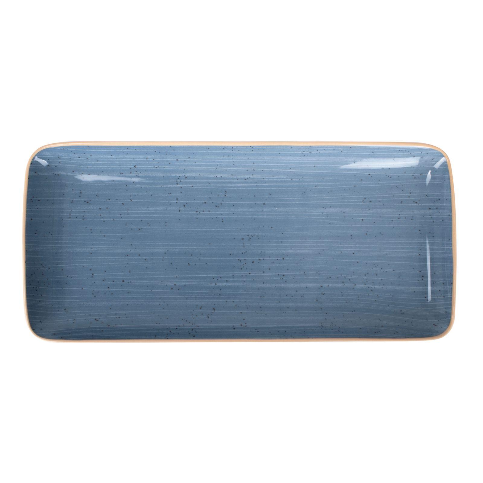 Plat rectangulaire Terra Blue 36 x 16,5 cm ARIANE