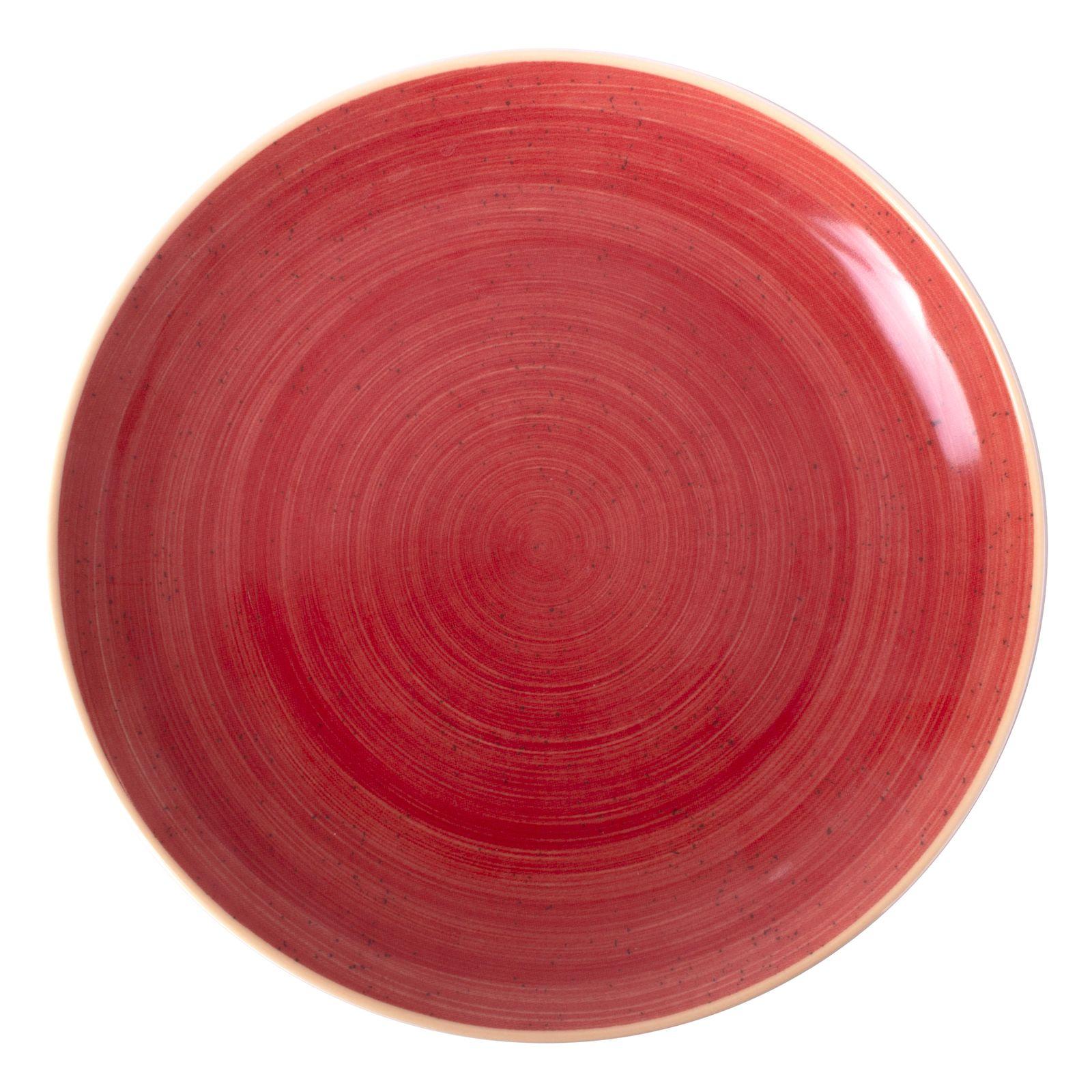 Porcelánový servírovací talíř Terra Red 31 cm ARIANE