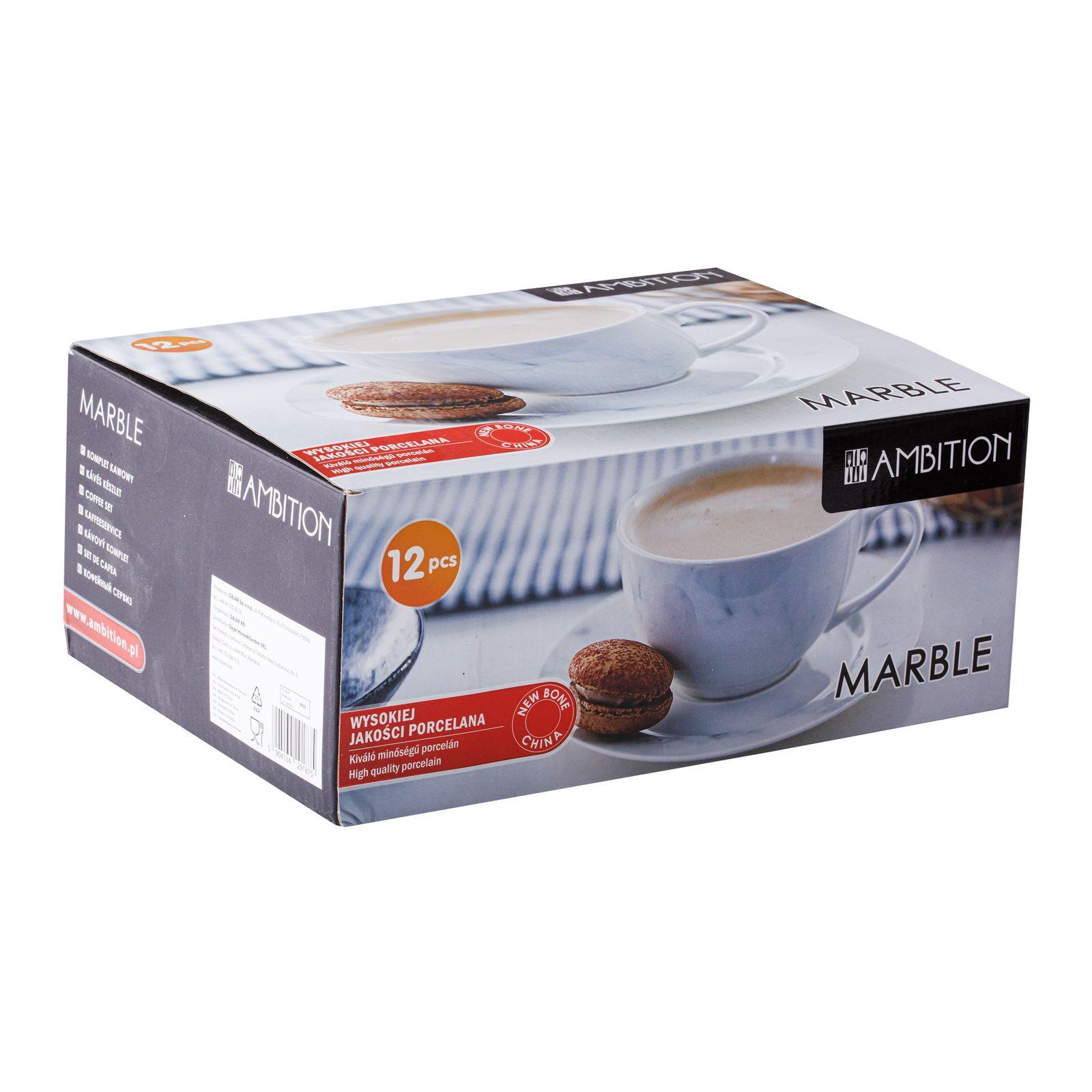 Service à café Marble 25 cl 12-pièces AMBITION