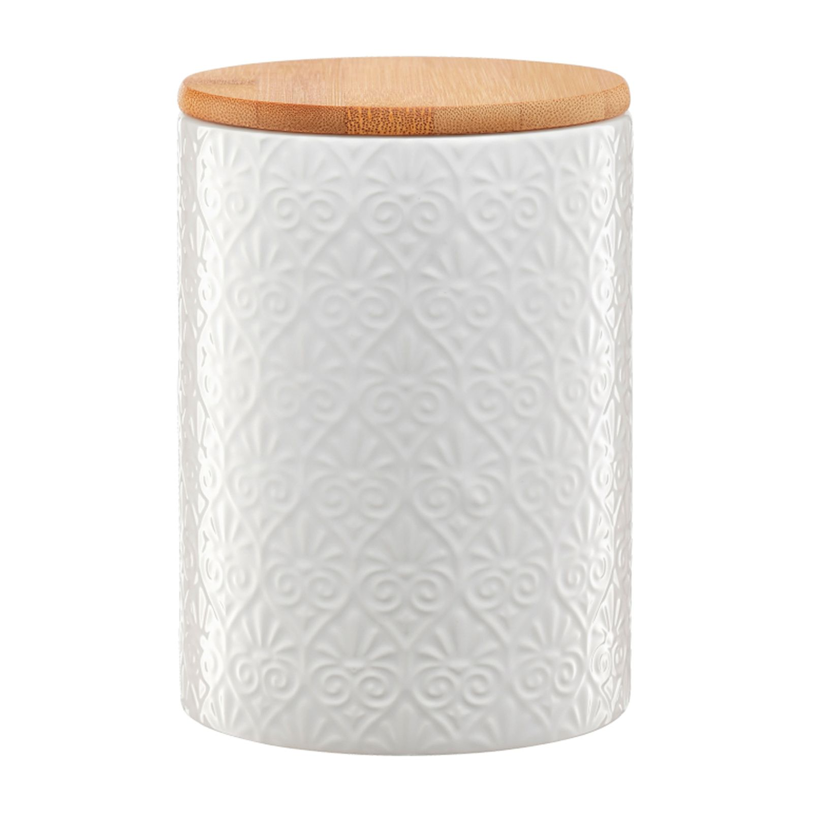 Pojemnik ceramiczny Tuvo mozaika z bambusową pokrywką 1110 ml AMBITION