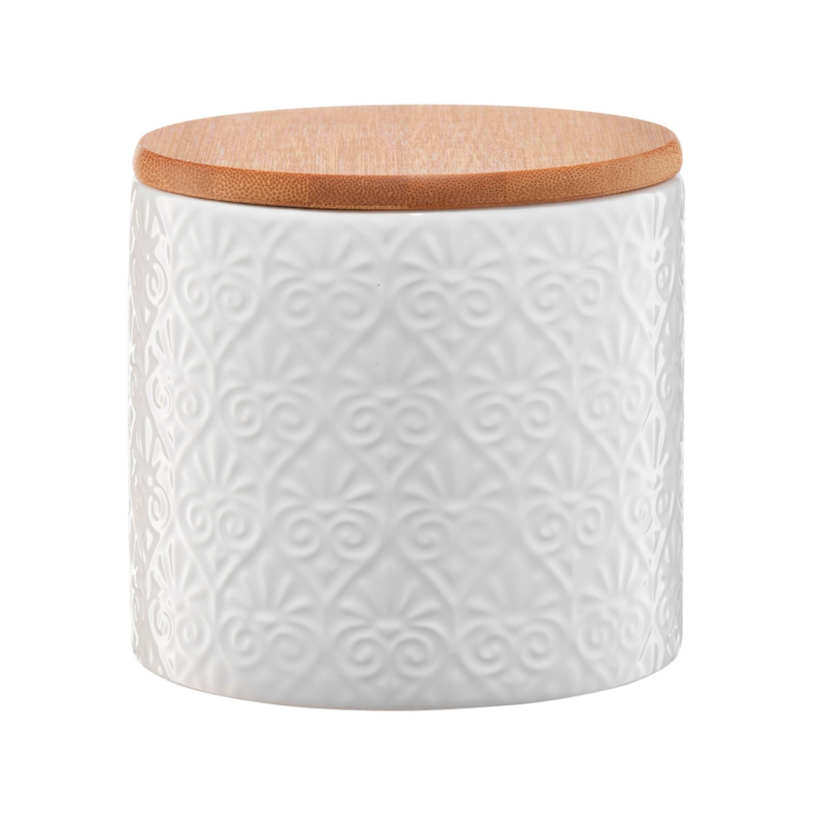 Pojemnik ceramiczny Tuvo mozaika z bambusową pokrywką 670 ml AMBITION