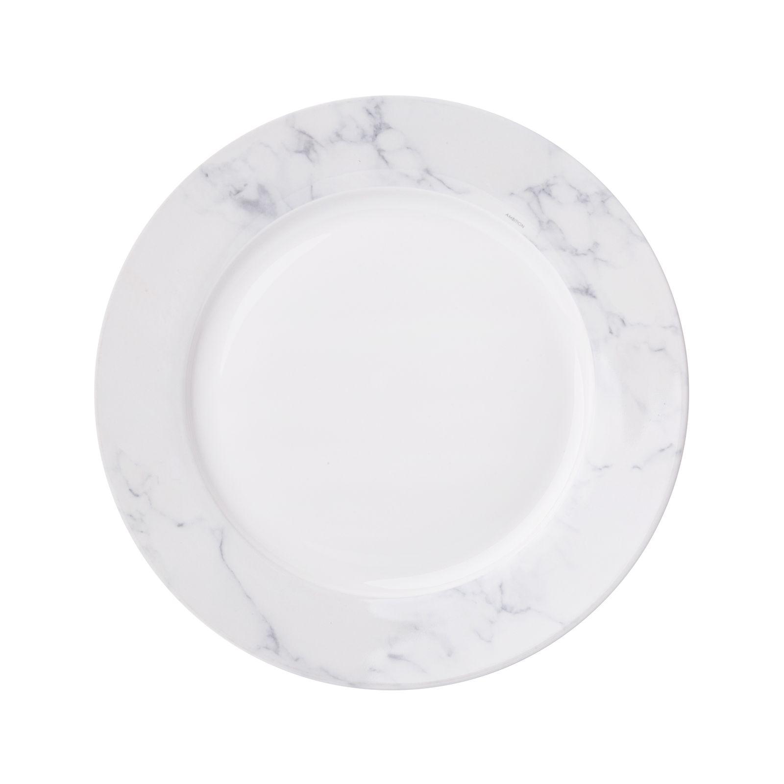 Assiette plate Marble 27 cm AMBITION