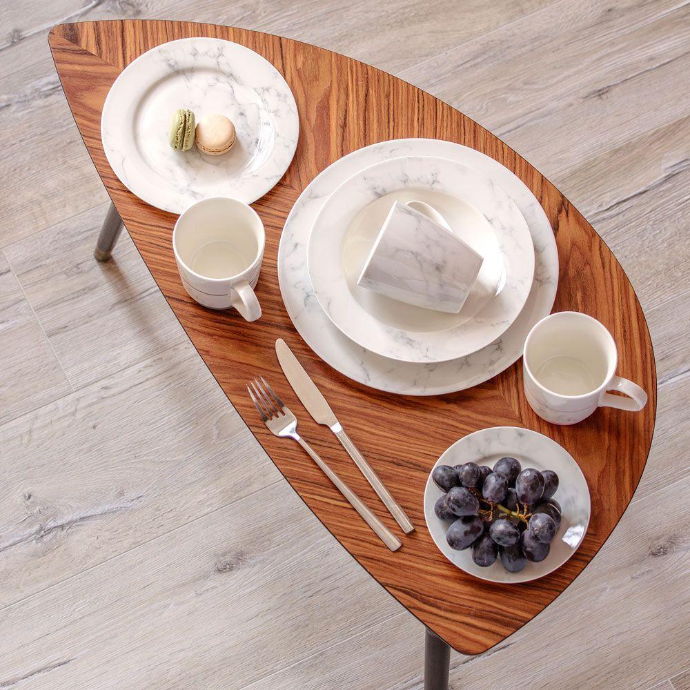 Talerz obiadowy 27 cm Marble AMBITION