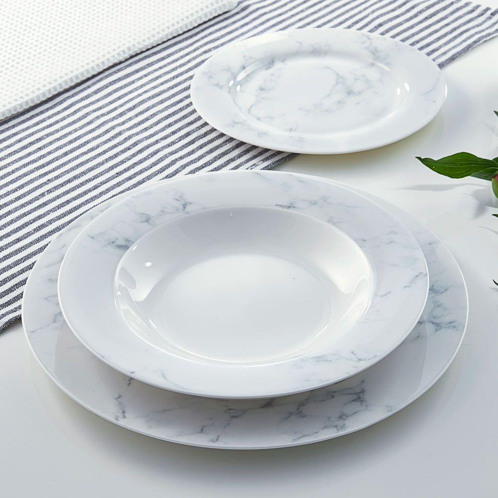 Assiette creuse Marble 23 cm AMBITION