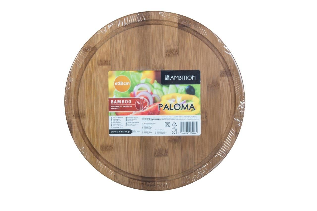 Deska bambusowa do krojenia Paloma 28 x 1,5 cm AMBITION